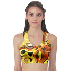 Colourful Abstract Background Design Sports Bra