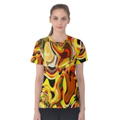 Colourful Abstract Background Design Women s Cotton Tee