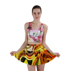Colourful Abstract Background Design Mini Skirt