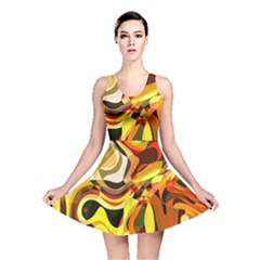 Colourful Abstract Background Design Reversible Skater Dress