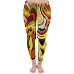 Colourful Abstract Background Design Classic Winter Leggings