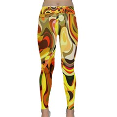 Colourful Abstract Background Design Classic Yoga Leggings