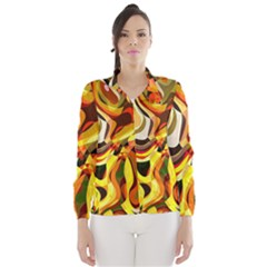 Colourful Abstract Background Design Wind Breaker (women)