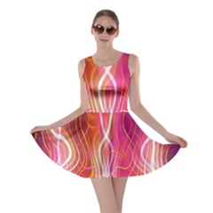 Fire Flames Abstract Background Skater Dress