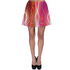 Fire Flames Abstract Background Skater Skirt
