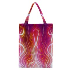Fire Flames Abstract Background Classic Tote Bag