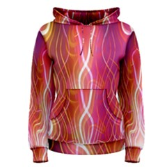 Fire Flames Abstract Background Women s Pullover Hoodie