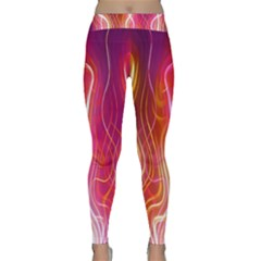Fire Flames Abstract Background Classic Yoga Leggings