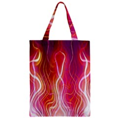 Fire Flames Abstract Background Zipper Classic Tote Bag