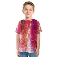 Fire Flames Abstract Background Kids  Sport Mesh Tee
