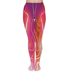 Fire Flames Abstract Background Women s Tights