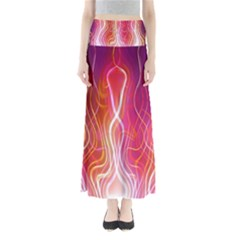 Fire Flames Abstract Background Maxi Skirts