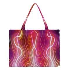 Fire Flames Abstract Background Medium Tote Bag