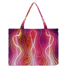 Fire Flames Abstract Background Medium Zipper Tote Bag