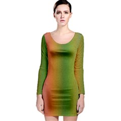 Colorful Stipple Effect Wallpaper Background Long Sleeve Bodycon Dress