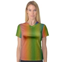 Colorful Stipple Effect Wallpaper Background Women s V-Neck Sport Mesh Tee