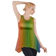 Colorful Stipple Effect Wallpaper Background Side Drop Tank Tunic