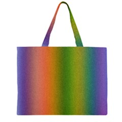 Colorful Stipple Effect Wallpaper Background Zipper Large Tote Bag