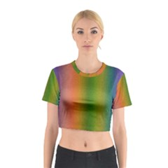 Colorful Stipple Effect Wallpaper Background Cotton Crop Top