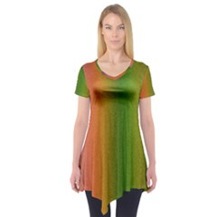 Colorful Stipple Effect Wallpaper Background Short Sleeve Tunic
