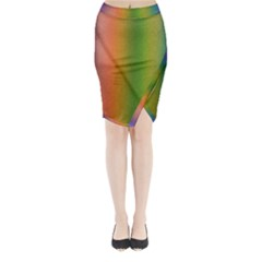 Colorful Stipple Effect Wallpaper Background Midi Wrap Pencil Skirt