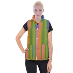 Colorful Stipple Effect Wallpaper Background Women s Button Up Puffer Vest