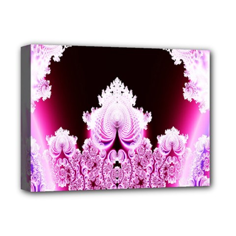 Fractal In Pink Lovely Deluxe Canvas 16  x 12
