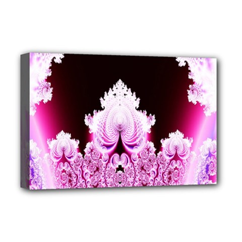 Fractal In Pink Lovely Deluxe Canvas 18  x 12