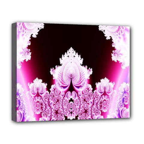 Fractal In Pink Lovely Deluxe Canvas 20  x 16