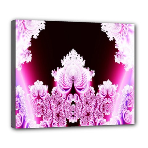 Fractal In Pink Lovely Deluxe Canvas 24  X 20