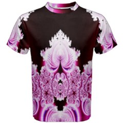 Fractal In Pink Lovely Men s Cotton Tee