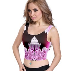 Fractal In Pink Lovely Crop Top