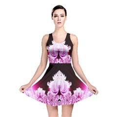 Fractal In Pink Lovely Reversible Skater Dress