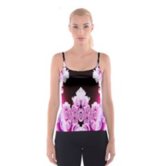 Fractal In Pink Lovely Spaghetti Strap Top