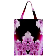 Fractal In Pink Lovely Zipper Classic Tote Bag