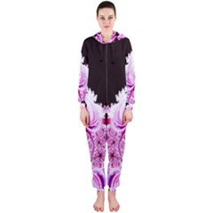 Fractal In Pink Lovely Hooded Jumpsuit (ladies)