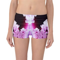 Fractal In Pink Lovely Boyleg Bikini Bottoms