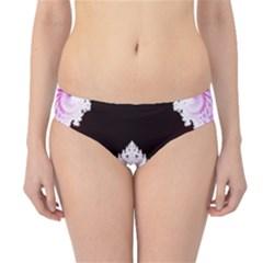 Fractal In Pink Lovely Hipster Bikini Bottoms