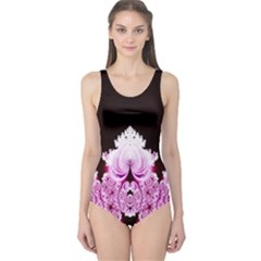 Fractal In Pink Lovely One Piece Swimsuit