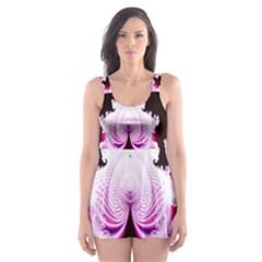 Fractal In Pink Lovely Skater Dress Swimsuit
