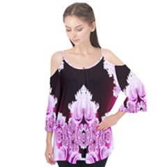 Fractal In Pink Lovely Flutter Tees