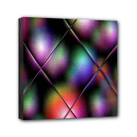 Soft Balls In Color Behind Glass Tile Mini Canvas 6  X 6