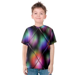 Soft Balls In Color Behind Glass Tile Kids  Cotton Tee