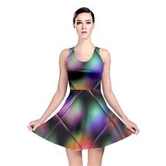 Soft Balls In Color Behind Glass Tile Reversible Skater Dress