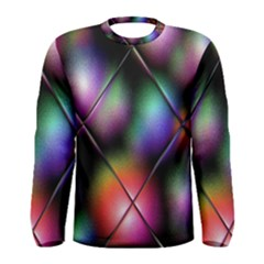 Soft Balls In Color Behind Glass Tile Men s Long Sleeve Tee