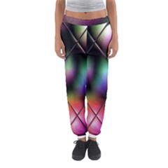 Soft Balls In Color Behind Glass Tile Women s Jogger Sweatpants