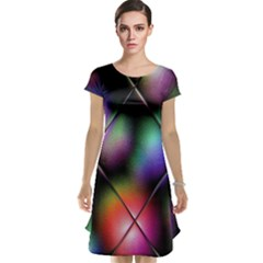 Soft Balls In Color Behind Glass Tile Cap Sleeve Nightdress