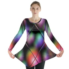 Soft Balls In Color Behind Glass Tile Long Sleeve Tunic