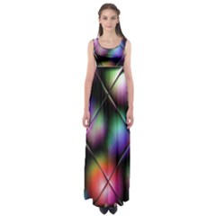 Soft Balls In Color Behind Glass Tile Empire Waist Maxi Dress