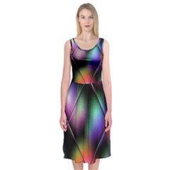 Soft Balls In Color Behind Glass Tile Midi Sleeveless Dress